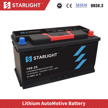 Batterie de voiture au lithium 12V 100-20 (type standard)
