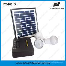 Sistema portátil de la energía solar del hogar de la batería de Li-ion con 3bulbs