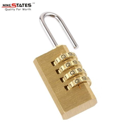 21MM 4 Digit Brass Lock Password Gembok