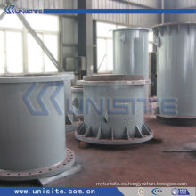 Tubo estructural de acero de la draga con las bridas (USC-4-003)