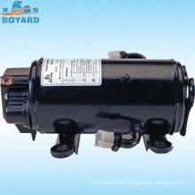 HVAC solar power R134A DC 12v/24v/72v Speed variable compressor for EV RV truck sleeper cab tractor forklift