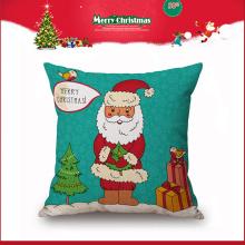travesseiro decorativo quadrado por atacado de Papai Noel do estilo do feriado por atacado para o Natal