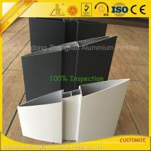 Perfil de alumínio exterior para cortinas de alumínio com revestimento em pó