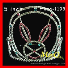 Fashion crystal rabbit pageant crown,sizes available, Rhinestone tiara crown, extract of crown of thorns
