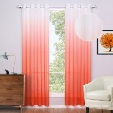 Polyester Print Voile Window Curtains