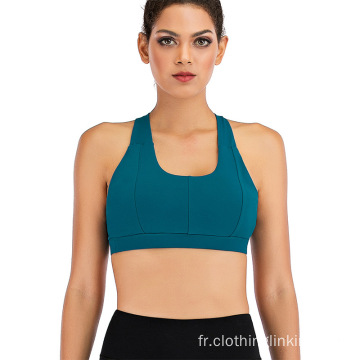Fitness Athletic Exercise Running Bra Activewear Yoga Tops