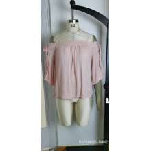Pink Lady Cuff Tie Bow Cute Style Top