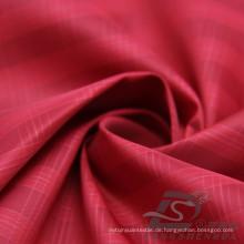 Wasser & Wind-resistent Mode Jacke Daunenjacke gewebt Plaid Jacquard 100% Polyester Sea-Island Filament Stoff (X041)