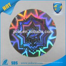 Design à prova de água a prova de água resistente a altas temperaturas Etiqueta de holograma de efeito de holograma 3D com logotipo de auto
