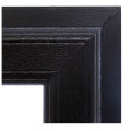 Schwarze Farbe UPVC Windows-Profile