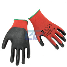 Cheap Price Wholesale 13G Polyester/Nylon Liner Nitrile Rubber Dipped Mechanic Gloves