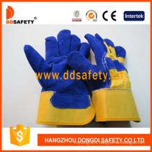 Cow Split Blue Leather Welding Working Glove Dlc226