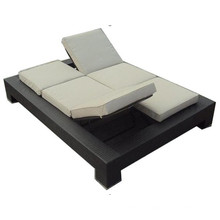 Double Folding Chairs Modern Chaise Sun Lounger
