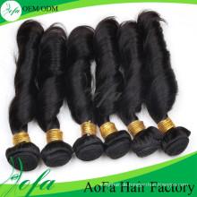 7A Grade Unverarbeitetes Menschenhaar Remy Virgin Haareinschlagfaden