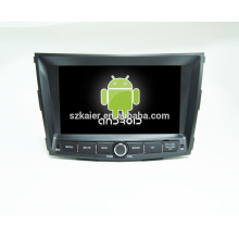 android 6.0-Dvd lecteur pour voiture1024 * 600 android lecteur dvd de voiture pour Ssangyong tivoly + OEM + quad core!