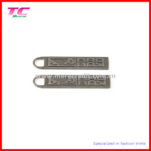 Embossed Antique Nickel Metal Zipper Pull for Garment Accessory