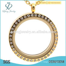 Hot new fashion trends 316l stainless steel gold lockets jewelry,antique crystal lockets jewelry for ladies