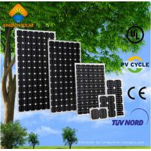 5W-125W panel solar monocristalino de la eficacia alta para el sistema de energía solar de la rejilla