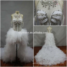 Real Made Pictures Beading Custom Made Formal Bridal Dress Vestidos De Novia BW099 dress with the short front and the long train