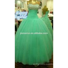New Arrival Elegant Sweetheart Tulle Beaded Long Ball Gown Prom Dresses
