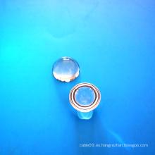 Media bola de cristal de zafiro para acoplamiento de fibra