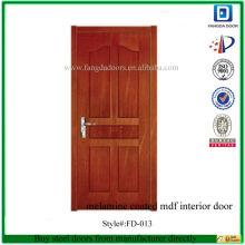 Fangda mdf pvc enduit pièce intérieure porte