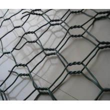 Galvanizado / PVC revestido Hexagonal malla de alambre / ganado Red de alambre
