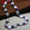 Natural Coin Baroque Freshwater Pearl Necklace Design for Women