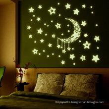 Wall Sticker Paper Factory Supply Hot Sale Room Decor Kids 3D Glow In The Dark Wall Foam Sticker