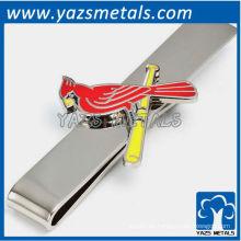 Cardenales barra de corbata, por encargo clip de lazo de metal con diseño