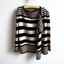 Camisola listrada feita malha acrílica do casaco de lã da forma das senhoras (YKY2012)