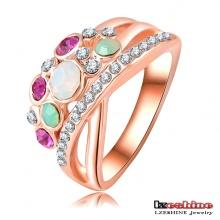 Anneau à doigts pour femmes en couleurs Opal 18k (Ri-HQ0002)