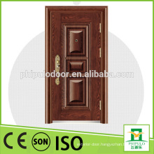 Main single fire rated security steel door design for decoration