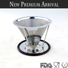 Nuevos Productos 2016 Reusable Pour Over Coffee Dripper, Paperless Coffee Dripper