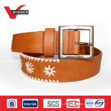 2014 Custom ladies leather embroidery belts