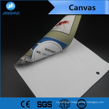 Gallery Wrap Stretching 1.27m*30m white inkjet canvas for Pigment Inks Printing