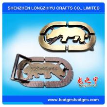Qualitäts-Metall-kundenspezifische Gürtelschnallen-Hersteller, Firmenzeichen-Name preiswerter kundenspezifischer Gurt