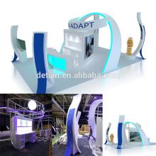 Detian offre île portable 6x9 exposition stand salon en bois affichage
