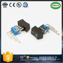 Interruptor de palanca y balancín en subminiatura de encendido, mini interruptor de balancín, interruptor de palanca pequeño