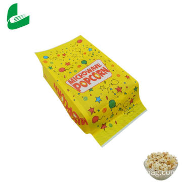 Sachet de popcorn micro-ondable en papier kraft graissable Kraft
