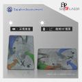 3D personalizado cartões holográficos sobreposição com holograma impressão de logotipo