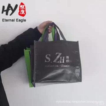 Portable lightweight pp woven beaded handbag