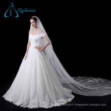 Fleurs Tulle Veil Wedding Bridal Long, voiles cathédrale en dentelle