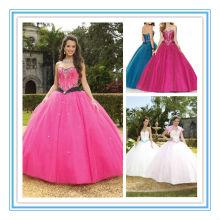 Vestidos sin tirantes del bordado del Neckline del amor atractivo La mayoría del vestido hermoso de Quinceanera (QUMO-1013)