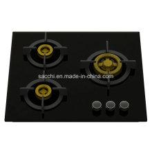 Supreme Elite 3 Cuisinière à gaz en laiton (verre 8 mm)
