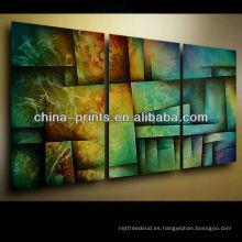 Pintura abstracta colorida en la lona para la venta