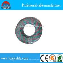 Cable de alambre eléctrico de 2 * 2.5 mm2 con conducto de cobre, alambre trenzado, cable eléctrico trenzado