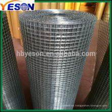 Malla de alambre soldada electro galvanizada 1 ''