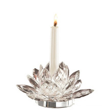 Fashine Crystal Glass Candle Holder for Home Decoration Bless