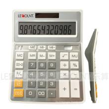 12 Digits Dual Power Sliver Metal Color Office Calculator (CA1092B-S)